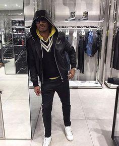Future Wears Philipp Plein Jacket, Gucci Sweater and Saint Laurent Sneakers  |  UpscaleHype