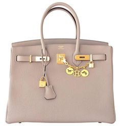 d54aef6ab5ba View this item and discover similar top handle bags for sale at - Hermes  Gris Tourterelle Dove Grey Togo Birkin Gold GHW Tote Bag Chic Brand New in  Box.