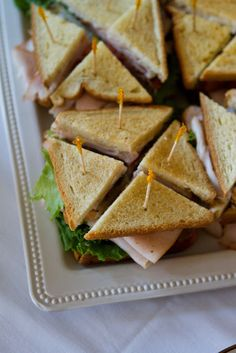 Wedding Brunch Reception - Turkey Club Sandwiches - Photo Courtesy of Brian…