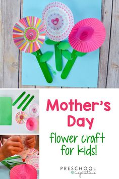Mother's Day Gifts & Crafts : Spring Cupcake Liner Flowers Craft - Preschool Inspirations An easy spring craft that's perfect for Mother's Day! Mom will Mothers Day Crafts For Kids, Crafts For Kids To Make, Mothers Day Cards, Gifts For Kids, Cupcake Liner Flowers, Cupcake Liners, Spring Crafts, Holiday Crafts, Mother's Day Activities