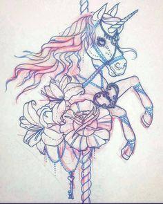 carousel unicorn tattoo - Google Search
