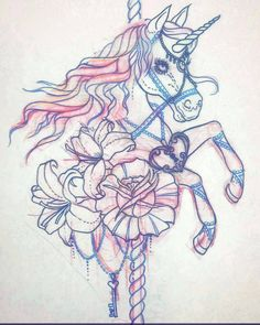 carousel unicorn tattoo - Google Search