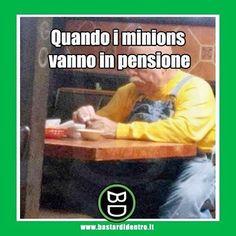 Forse loro riescono ad andarci! #minions #bastardidentro #tagga i tuoi amici e #condividi le risate! www.bastardidentro.it