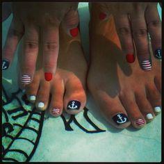 #Sailor #Nails #nailart #nautical #anchor