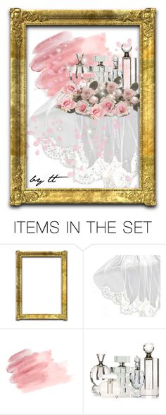 """""""Crystal Perfume Bottles and Pink Roses...by tt"""" by fowlerteetee ❤ liked on Polyvore featuring art"""
