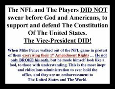 Pence/tRump are disrespecting the First Amendment Rights of Americans... while WASTING Taxpayers dollars!!! Outraged, yet??