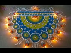 Beautiful Rainbow Rangoli Designs With Colours - Multi Colour Rangoli for Competitions By Maya! Easy Rangoli Patterns, Rangoli Designs Latest, Simple Rangoli Designs Images, Rangoli Colours, Rangoli Border Designs, Rangoli Ideas, Colorful Rangoli Designs, Rangoli Designs Diwali, Beautiful Rangoli Designs