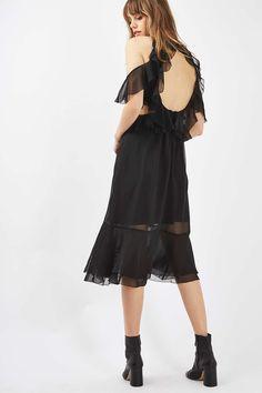 Ruffle Open Back Dress
