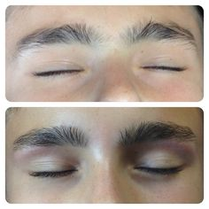 Male brow waxing by Emma Willcock.