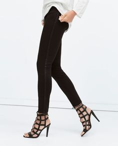 Image 3 of SEAMED TROUSERS WITH GROSGRAIN SIDE STRIPE from Zara