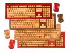 Bamboo wireless keyboard and mice