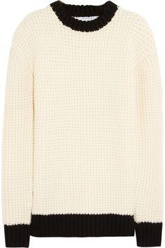 J.W.Anderson|Waffle-knit merino wool sweater|NET-A-PORTER.COM
