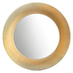 The All Saints mirror is inspired by Kartell's best-selling Bourgie lamp, its round pleated frame paying a nod to the traditional while casting contemporary shadows and reflections. Designed by Ludovica and Roberta Palomba, this opulent and innovative design features a distinctive texture along its border available in a range of tones.