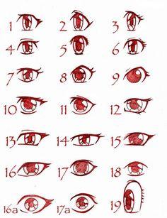 Рисуем глаза: манга и аниме