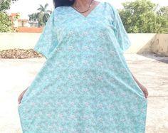 Kaftan dress, caftan, maxi dress, kaftan, beach dress, beach kaftan, beach coverup, swim coverup, baby shower dress, blue dress, gown