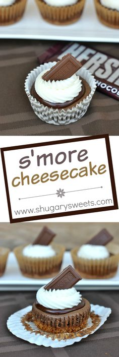 Next time you are craving S'mores, try making these individual S'more Cheesecakes! All the flavor of a S'mores with no campfire needed!