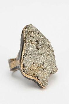Adina Mills Golden Stone Ring