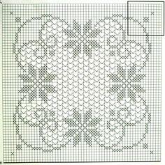 Большая-квадратная скатерть крючком схема 1