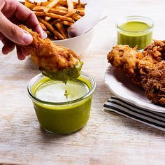 You're going to be dipping everything into this bright herb and cumin sauce.