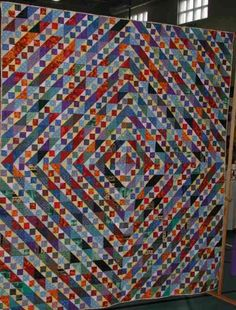 For 7 years, I was the 'quilt mom' for my church festival raffle quilt.  It was fun looking for blocks that could be made by all skill levels and still sewn together in some semblance of order.  This was a good one.