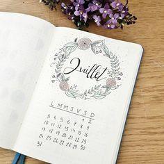 Juillet dans mon Bullet Journal #bulletjournal #planner #monthly