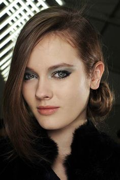 Paris F/W '11: Chanel says the colour of the moment is gunmetal—in both eyeshadow and nail polish—and so we must listen. We must!