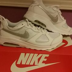 New all white women's Nike Air Max Muse size  9 NIB, well I wore them for about 2 hours, perfect Condition Price is firm Nike Shoes Athletic Shoes