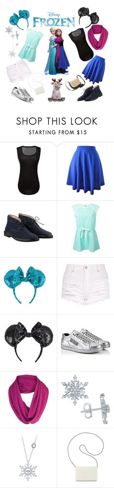"""Frozen - Double Feature"" by akjdmt ❤ liked on Polyvore featuring ATM by Anthony Thomas Melillo, Courrèges, Kenzo, ibex, Disney, Nine West and UGG"