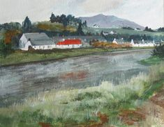 Reraig and the Poor House March Month, Scottish Highlands, Art Decor, Fine Art, Artist, House, Painting, Etsy, Home
