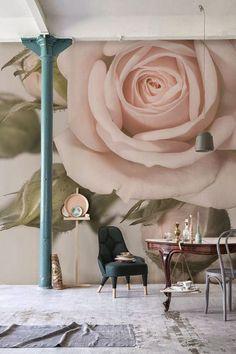 25 Best ideas for pink floral wallpaper bedroom wall murals Rose Wallpaper, Wall Wallpaper, Bedroom Wallpaper, Striped Wallpaper, Wallpaper Ideas, Deco Pastel, Floral Wall, Motif Floral, Floral Patterns
