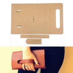 diy leather handmade craft women handbag wallet handbag pattern sewing paper Kraft hard stencil template ♡ Shop New DIY Handmade Leather Crafts women handbag wallet Purse Sewing Pattern Hard Kraft paper Stencil model Pochette Diy, Leather Bag Pattern, Diy Leather Clutch, Diy Clutch, Clutch Pattern, Diy Purse, Sewing Leather, Leather Case, Leather Bag Tutorial
