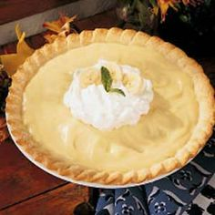 Banana Cream Pie ~ {Made from Scratch} ~ Made from our farm-fresh dairy products, this pie was a sensational creamy treat anytime that Mom served it. Her recipe is a real treasure, and I've never found one that tastes better! -Bernice Morris, Marshfield, Missouri