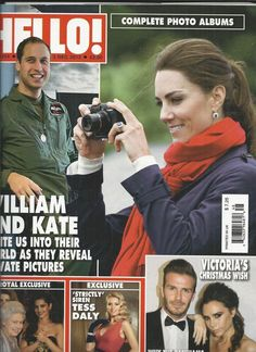 Hello magazine Kate Middleton Prince William David Victoria Beckham Tess Daly
