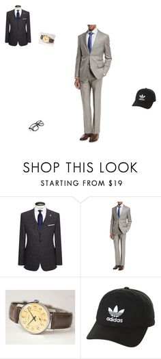 """""""Untitled #15"""" by moomookitty1234 ❤ liked on Polyvore featuring Ted Baker, Ermenegildo Zegna, adidas Originals, men's fashion and menswear"""