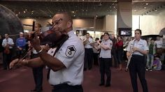 The USAF Band Holiday Flash Mob at the National Air and Space Museum 2013                                                     If you listen to this & don't get tears in your eyes or goosebumps or BOTH, you're not alive!  Beautiful!
