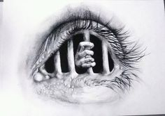 Immagine di art, drawings, and eye