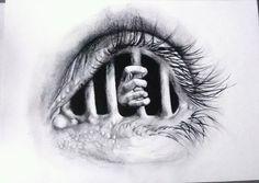 Immagine di art, drawings, and eye