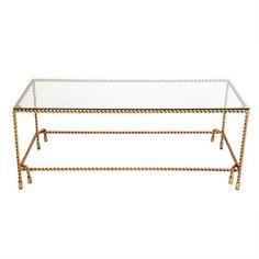 Costiera 130cm Rope Pattern Metal Coffee Table