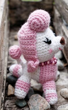A model from my book: ABC to Amigurumis- crochet cuture dogs and cats from Dibidogs world