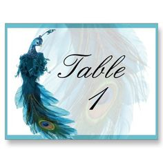 peacock table number