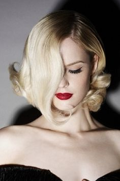 This is GORGEOUS! don't know who would fix their hair that way everyday tho ;) Vintage Glam Bob