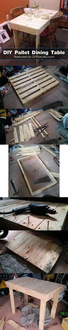 DIY Shipping Pallet Dining Table Tutorial - DIY for Life