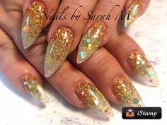 Acrylic fall stiletto nails