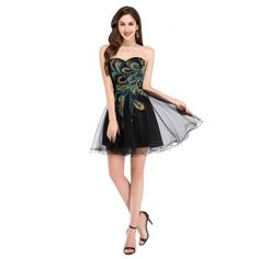 Cheap dress me prom dresses, Buy Quality dress cat directly from China dress up prom girl Suppliers: Peacock Bridesmaid Dresses Grace Karin Black White Maid of Honor Dress Short 2017 Feather Tulle Prom Dress Wedding Party Gowns Peacock Bridesmaid Dresses, Mini Prom Dresses, High Low Prom Dresses, Formal Dresses For Teens, Tulle Prom Dress, Bridal Dresses, Strapless Dress Formal, Dress Wedding, Peacock Dress