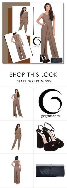 """Jumpsuit!"" by sabinakopic ❤ liked on Polyvore featuring GCGme, Miu Miu, Clutch, fashionable, jumpsuit and gcgme"