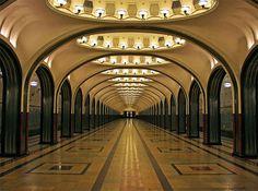 Mayakovskaya metro station - Moscow #subway #metro