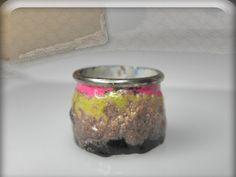 VESNAjewelryART - Vesna Kolobaric - enameled copper silver ring contemporary ring