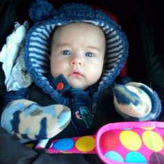 Noah dressed for the cold weather
