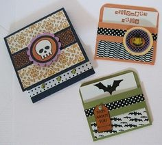 Look at these great Halloween matchbook invitations created with the hAppy.