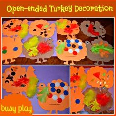 Thanksgiving crafts for kids :Thanksgiving craft with foam shapes